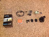 I am selling my go pro I purchased new a year ago.