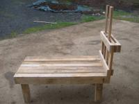 Custom made stands built to fit any size goat from
