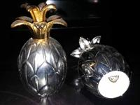 Type: Decor Godinger Pineapple Silver Plated Salt and