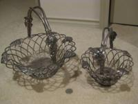 PAIR of very nice silver-plated baskets by the Godinger