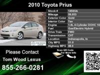 Prius III. WOW! HYBRID! Enjoy Hooked On Tom Lumber