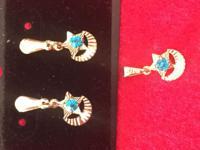 Unique Goldfilled 18k kids Goldfilled SET earrings &
