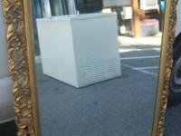 Ornate gold framed mirror 38x48H.  INCREDIBLE FINDS New
