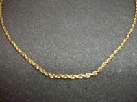 "21.5""  Rope Necklace  7.9 grams  14K Gold !!  LAYAWAY"