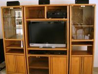 Attractive 3 item golden oak enjoyment facility,