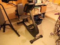 For sale is a Gold's Gym 230 Recumbent Excercise Bike.