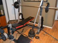 HI,. We are offering a Gold's Gym weight bench with leg