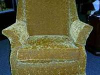 Gold Velvet Chair. Very Comfortable. Asking $70.00 WE