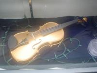 Gold violin, new, custom painted Steinway Gold in our