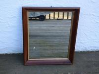 "WOOD. FRAME. WALL. MIRROR. Approximate Size:. 19.75"" x"