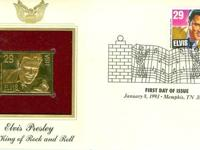Golden Replicas of U.S. Stamps Proof replicas on a