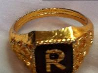 Gold-plated Ring each letter C, D, M and R (1 qty ) $25