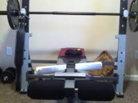 All Golds gym equipment, Purchased all at walmart for