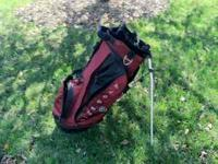 Nike Golf Bag- carry style with stand, 2 straps.
