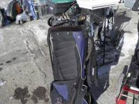 Golf Bags $40.  Golfing Luggage with tires $50.