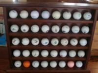 Golf Ball Shelf - very nice - works well in the house