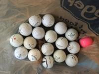 250 used golf balls - separated by brand - includes 136