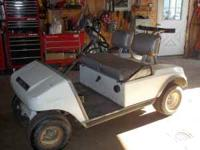 Club car gas golf cart runs and goes,making room for