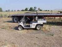 36 volt golf cart with charger and extra tires. Does