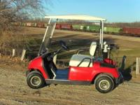 GAS GOLF CART YAMAHA GAS GOLF CART BRIGHT RED FOLDING