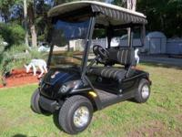 Beautiful black YAMAHA 48 volt electric GOLF CART, like