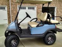 """Club Car Precedent 2011, New Sky Blue Body, New 10"""" Mud"""