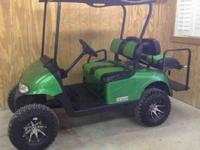 We have several gas and electric golf carts to choose