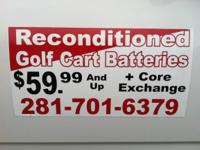 We carry reconditioned batteries for most make and