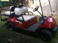 2007 Yamaha 48V electric golf cart. Rear, fold down