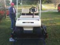 Club Car brand golf cart, electric, roof, mirror, carry