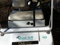 Quail Run Golf Cart for sale: See item photos below for