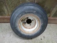 Used golf cart tire & wheel in good condition