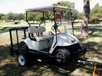 1997 GOLF CART & TRAILER. $2,250 OBO OR TRADE CALL  OR