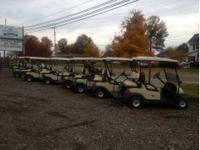 Lots of gas and electric golf carts and utility carts
