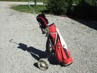 Golf Club Set with EZ go pull cart. Set is an adult set