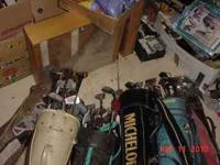 GOLF CLUBS - 12 Sets w/bags from $15 to $25 each Calll