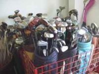 We have large quantities of Golf Clubs, each in good