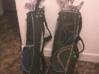2 Sets of golf clubs one is youth with 3 fairway woods