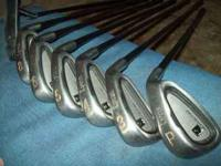 Lynx Black Cat irons:3,4,5,6,8, pitching wedge and