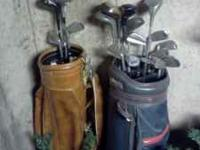 21 golf clubs 2 bags  Location: mechanicsburg