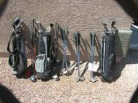 To many golf clubs:. Golden Bear complete set w/bag