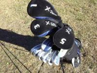 Cougar X-Cat Tour RH Golf Clubs (12 total) with hoofer