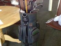 Set of thirteen golf clubs and bag  Quality sports bag