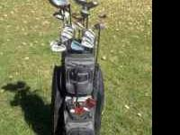 Need to sell asap, good deal and set of Golf Clubs.