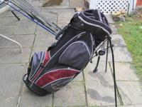 Selling entire golf club set with bag, shoes, tees,