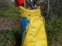 Golf Clubs & Bag w/Rain Cover Clubs are sized for a
