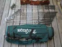 This is a complete set of Wilson 1200GE clubs. Includes