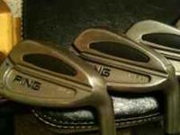 Got a set of basically new ping s59 irons. 4-pw. Great