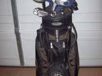 Pinseeker golf club set with Women's golf bag. Good