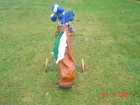 Description Northwestern Golf Clubs w/Pull Cart $75